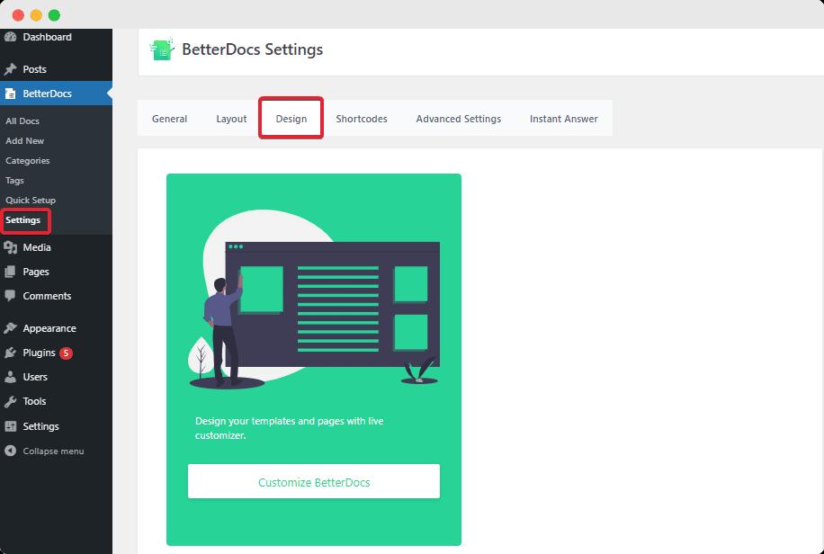 Documentation Sidebar BetterDocs