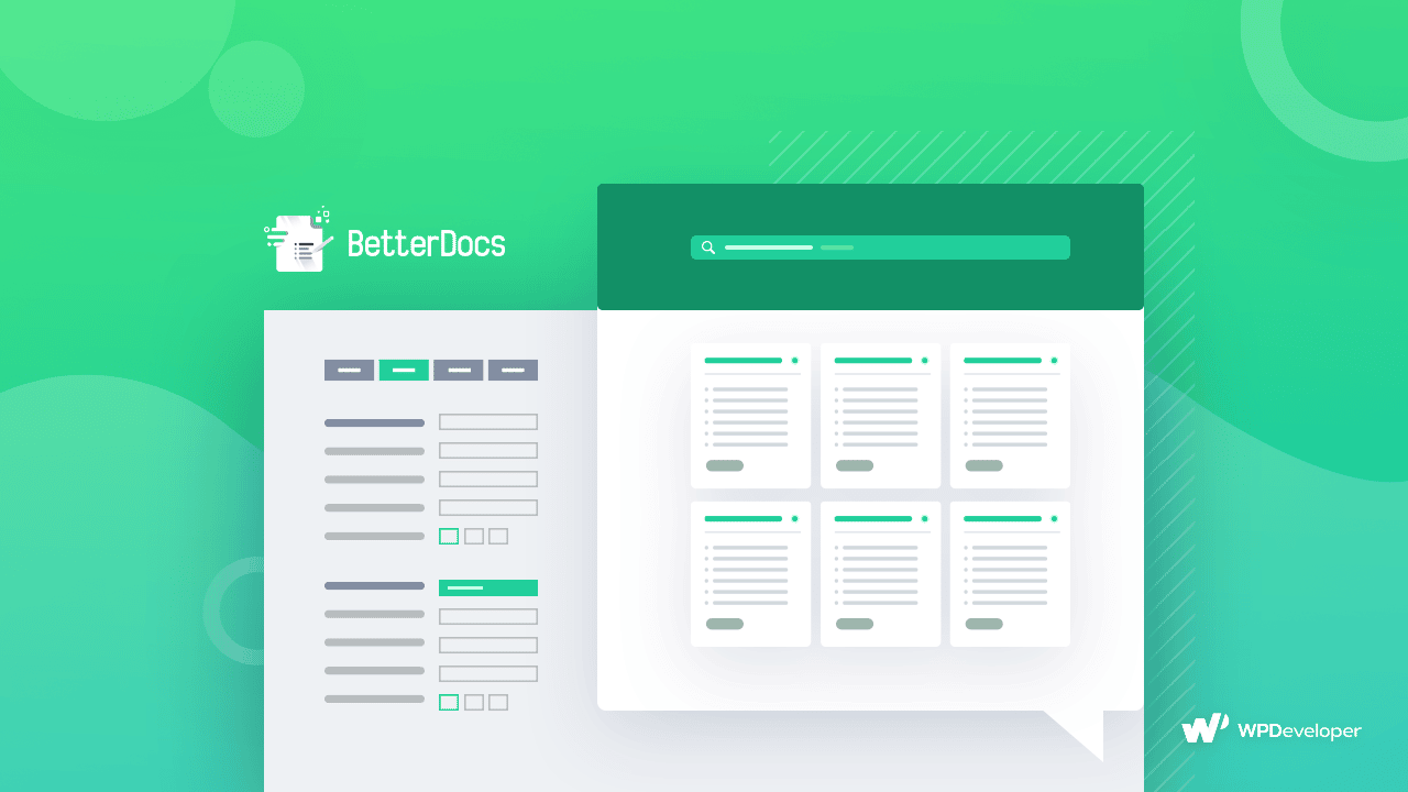 Página de documentación BetterDocs, Base de conocimiento, Sitio web WordPress, BetterDocs