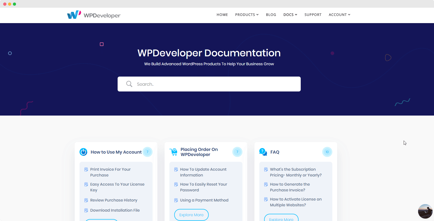 WordPress documentatie