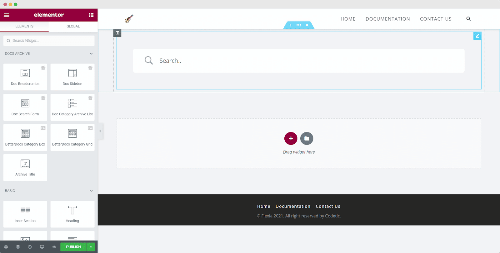 Docs Category Archive Page with Elementor