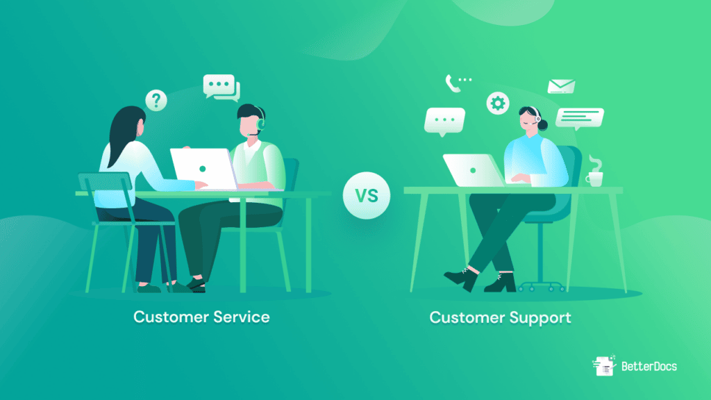 customer support vs customer service